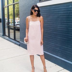 Everlane NWT Japanese GoWeave Rose Cami Slip Dress